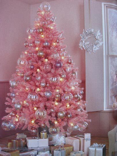 christmas trees of color pink christmas tree pink