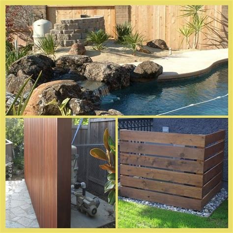 hide pool equipment ideas to hide block walls there are 3 types of pool