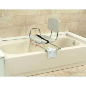 snap n save sliding tub mount transfer bench w swivel seat
