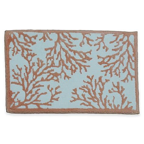 Coral Bathroom Rug Buy Cosmic Inc Coral 21 Inch X 34 Inch Bath Rug In Pink From Bed Bath Beyond