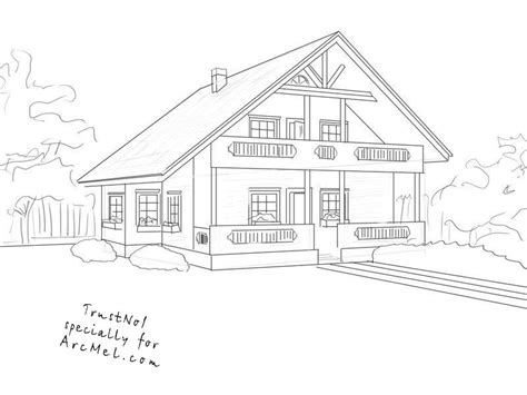 how to draw houses how to draw a house step by step arcmel com