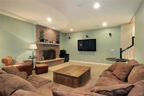 basement living room color schemes basement paint color schemes brightening up a basement space with only paint living room