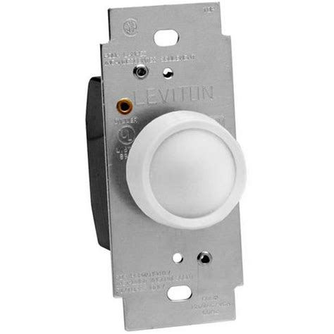 L Dimmer Walmart by Leviton 600w 120v Ac White Standard Rotary Dimmer Single