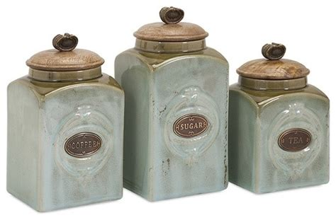 Tuscan Style Kitchen Canister Sets addison ceramic canisters set of 3 traditional