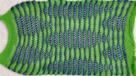 drop stitch knitting drop stitch lace 2 colors per row passap km