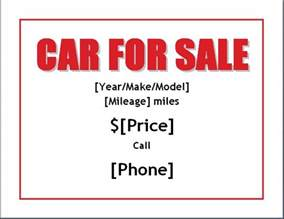 for sale poster template sle car for sale poster flyer template formal word