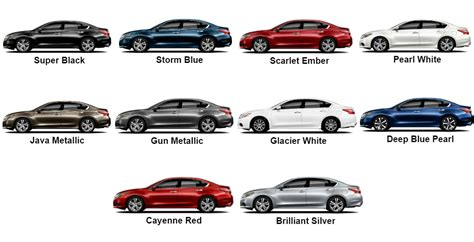 most popular truck colors in 2017 2017 nissan altima color options 10 colors pictured here