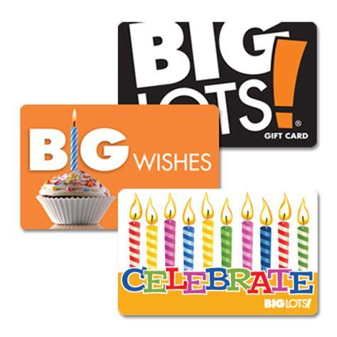 Big Lots Gift Card - view big lots gift card deals at big lots