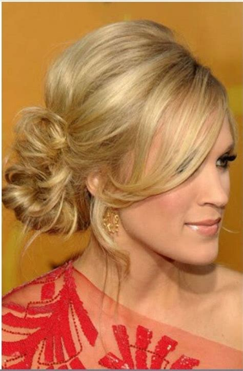 Hair Styles For Back Of | side updo coiffure pinterest updo carrie and hair