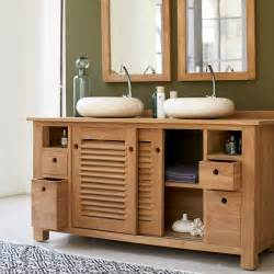 meuble pour salle de bain en teck meubles coline duo sous
