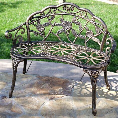 cast aluminum outdoor bench new 39 quot antique design style patio porch garden bench cast