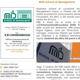 Mib Trieste School Of Management Mba by A Trieste Il Primo Mba In Management Of Technology And