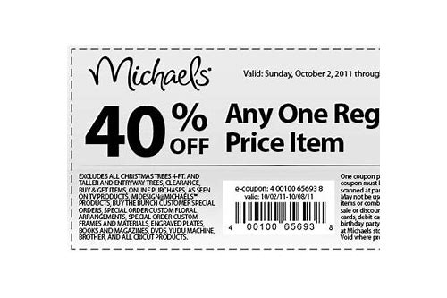 joann coupons at michaels