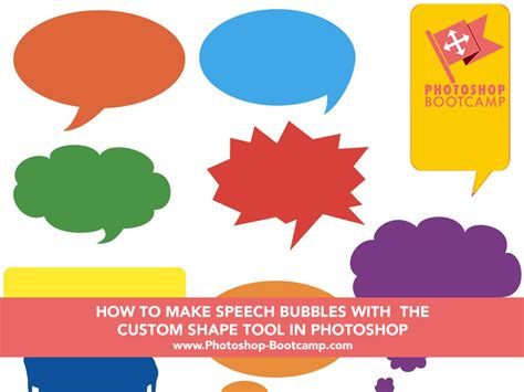 how to make speech bubbles using the custom shape tool in