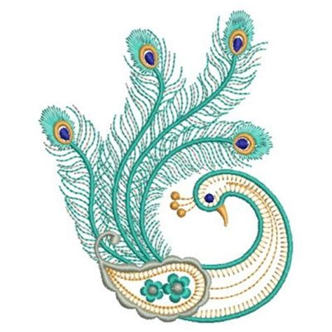 embroidery design of peacock peacock machine embroidery embroidery ideas pinterest