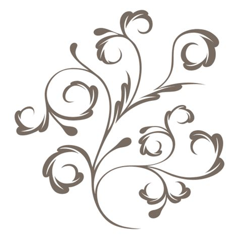 decorative plant swirls transparent png svg vector file