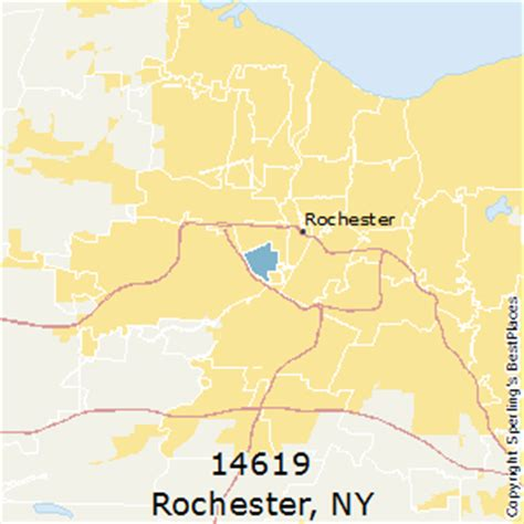 zip code map rochester ny best places to live in rochester zip 14619 new york