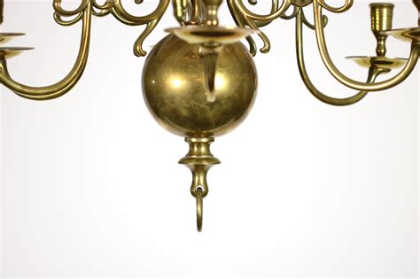 12 light chandelier brass two tiered twelve light dutch brass chandelier 19th century