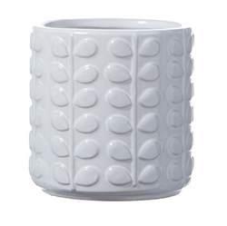 White Ceramic Plant Pots Orla White Ceramic Plant Pot Planter Tutti Decor Ltd