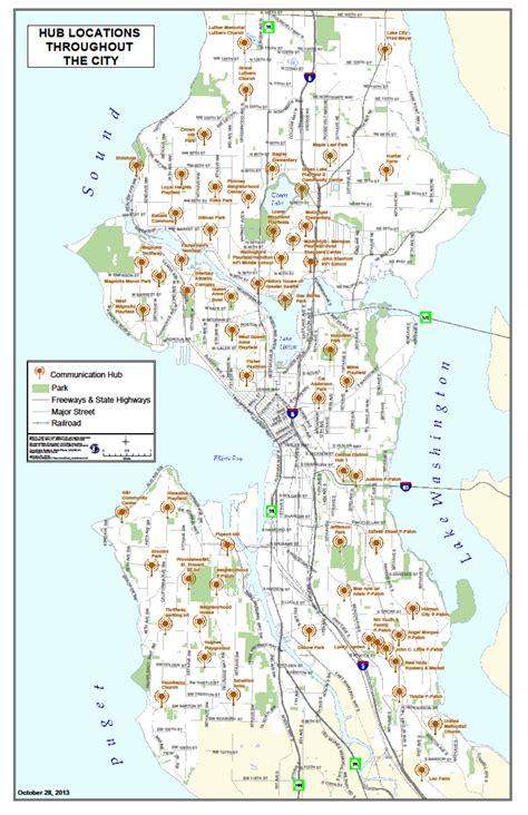 seattle neighborhood map pdf seattle community hubs citywide