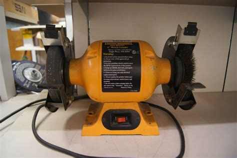 central machinery bench grinder central machinery 6 quot bench grinder als end of the year blowout equip bid