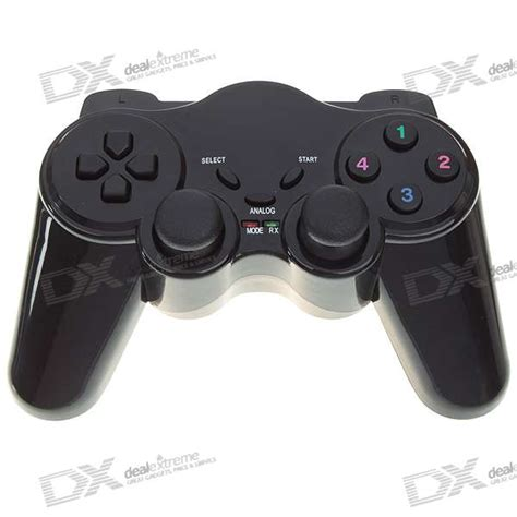 Stik Ps2 Wireless 24ghz Using 2 Pcs Aaa Batteries 2 4ghz wireless dual shock joypad controller gamepad for pc 3 aaa free shipping dealextreme