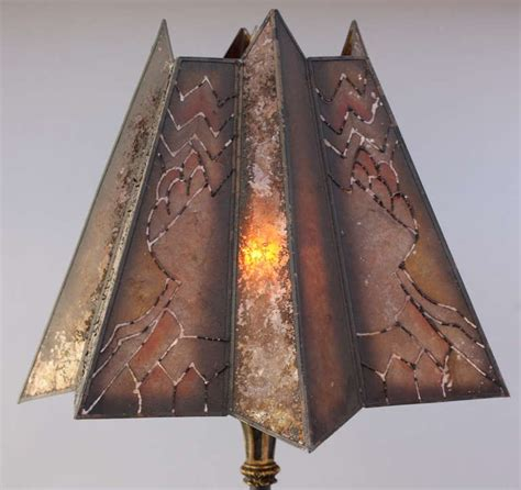 1920s floor l with mica shade for sale at 1stdibs