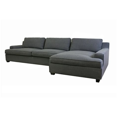 Modern Sectional Sofa Kaspar Slate Gray Fabric Modern Sectional Sofa See White