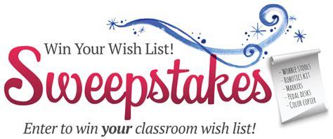Wish List Sweepstakes - teacherlists win your wish list sweepstakes