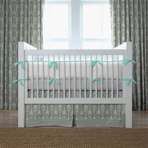 teal nursery bedding gray and teal arrow crib bedding neutral baby bedding