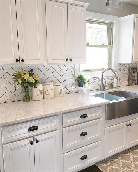 backsplash white cabinets image best 25 white kitchen