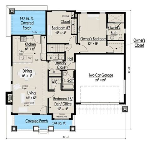 1300 square feet to meters plan 18267be simply simple one story bungalow craftsman