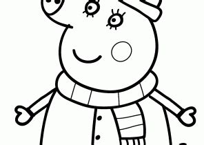 peppa pig winter coloring pages peppa pig coloring pages coloring4free com