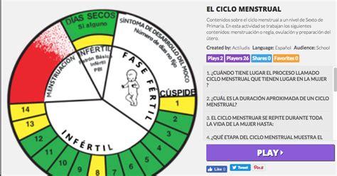 Calendario Ciclo Menstrual El Ciclo Menstrual Actiludis