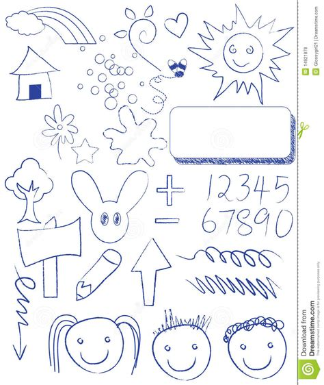 kid doodle free doodles outdoor royalty free stock photos image