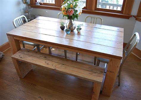 rustic dining room table with bench hallo fritz rustic modern dining room table