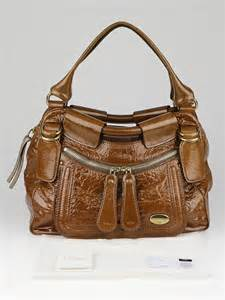 Bay Bags by Brown Patent Leather Large Bay Bag Yoogi S Closet