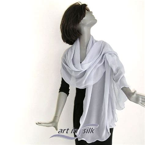 Pashmina Syahira Platinum Cerutiukuran L gray sheer shawl wrap 100 silk chiffon evening or bridal