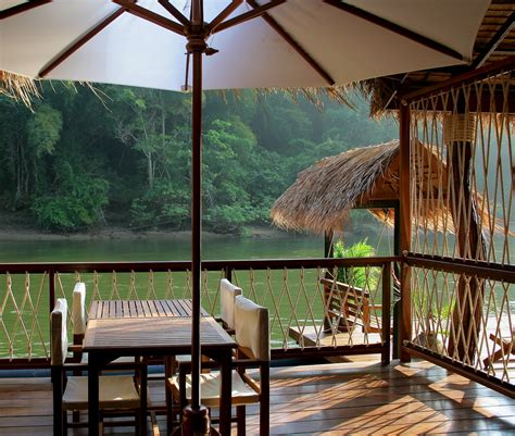 living on a boat thailand the float house river kwai thailand