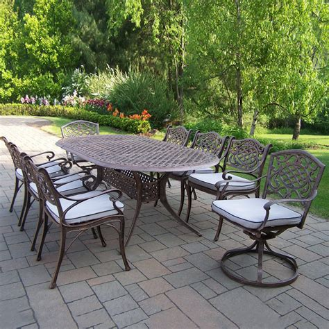 ow patio furniture clearance furniture shop garden treasures tucker bend brown steel stackable patio lowes patio furniture