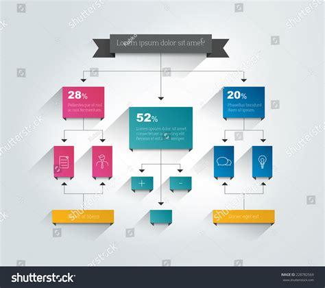 flowchart graphics infographics flowchart colored shadows scheme stock vector