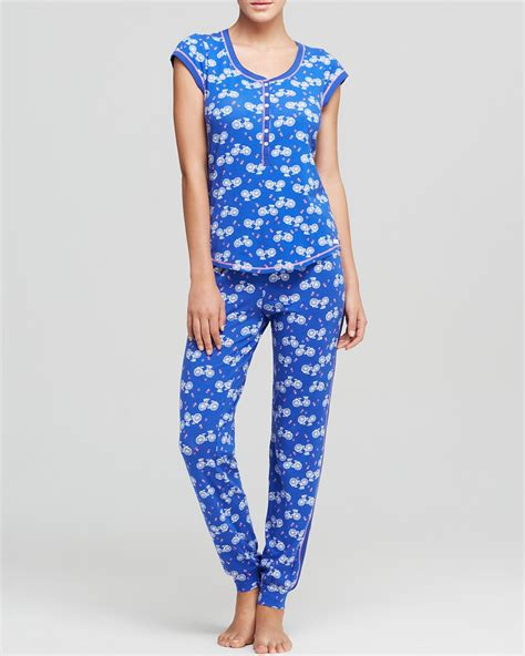 Burberry Pajamas 2 Set kensie blue lagoon bikes pajama set bloomingdale s