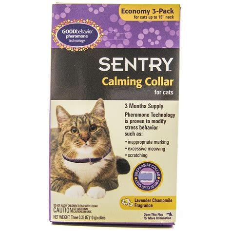 anxiety collar sentry sentry behavior calming collar for cats anxiety relief for cats