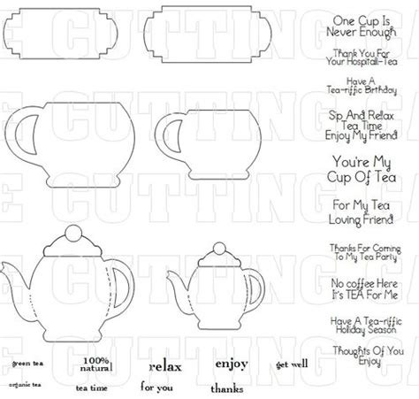 tea bag s day card template the cutting cafe tea box holder template and cutting file