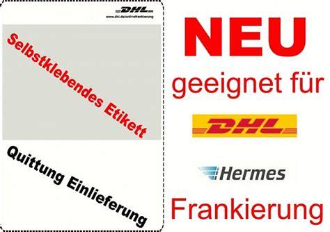 Paket Etiketten Drucken Dhl by Dhl Etiketten Versandetiketten Klebeetiketten Hermes Paket