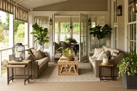 Covered Patio   Cottage   deck/patio   Sherwin Williams Intellectual Gray   Southern Living