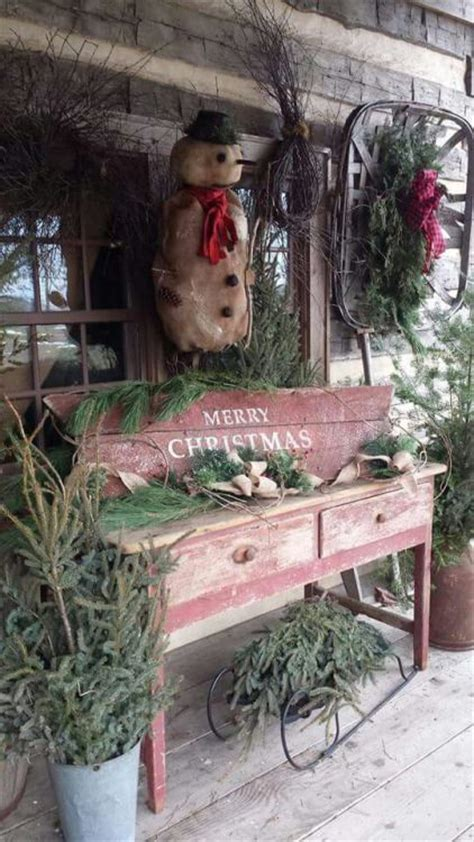 outside displays 17 best images about primitive porch outdoor