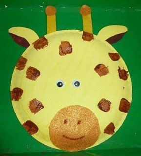 Giraffe Paper Plate Craft - giraffe paper plate craft cool for school
