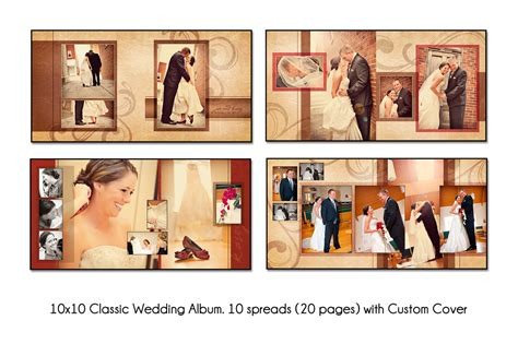 psd wedding album template autumn swirl 10x10 unique 10