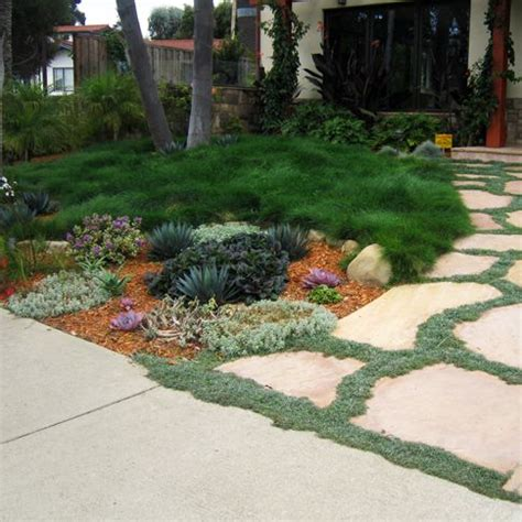 front yard landscaping no grass no turf front lawn a must curb appeal and landscape